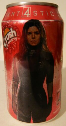2016 12 oz. STRAWBERRY CRUSH CAN ( FANTASTIC 4 - INVISIBLE WOMAN )  BOTTOM OPEN