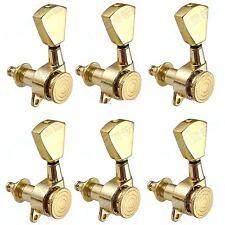 Lock Tuner,3R3L Tulip Button Guitar Machine Heads Tuning Keys w/Lock, Gold BT20