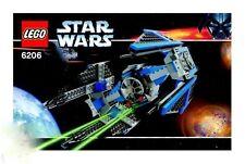 LEGO STAR WARS TIE INTERCEPTOR 6206 TIE PILOT MINIFIGURE 100% COMPLETE GUARANTEE