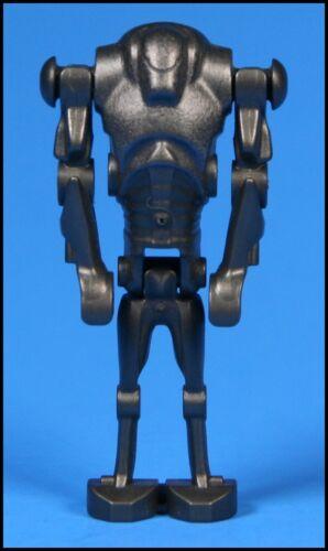 2007 LEGO STAR WARS SUPER BATTLE DROID METALLIC DARK GREY MINIFIGURE FROM 7654