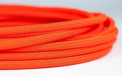 5 meters Shakmods Round 4 mm High Density UV Orange Braided Expandable Sleeving