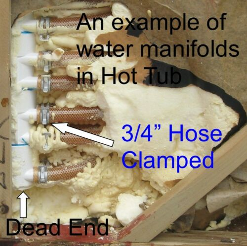 """Manifold Hot Tub Spa Part 30 3//4/"""" Outlets with Coupler Kit Video How To"""