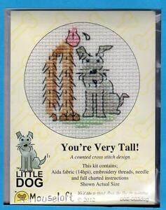 Little Dog X Stitch Kit by Mouseloft  (You're Very Tall!)
