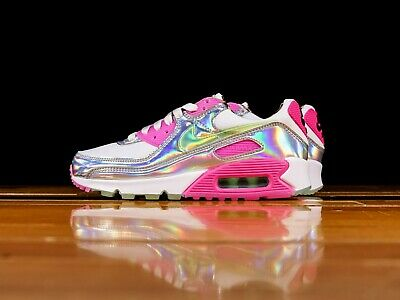 Details about AUTHENTIC NIKE AIR MAX 90 LX White Pink Laser Fuchsia CQ2559 100 Women size