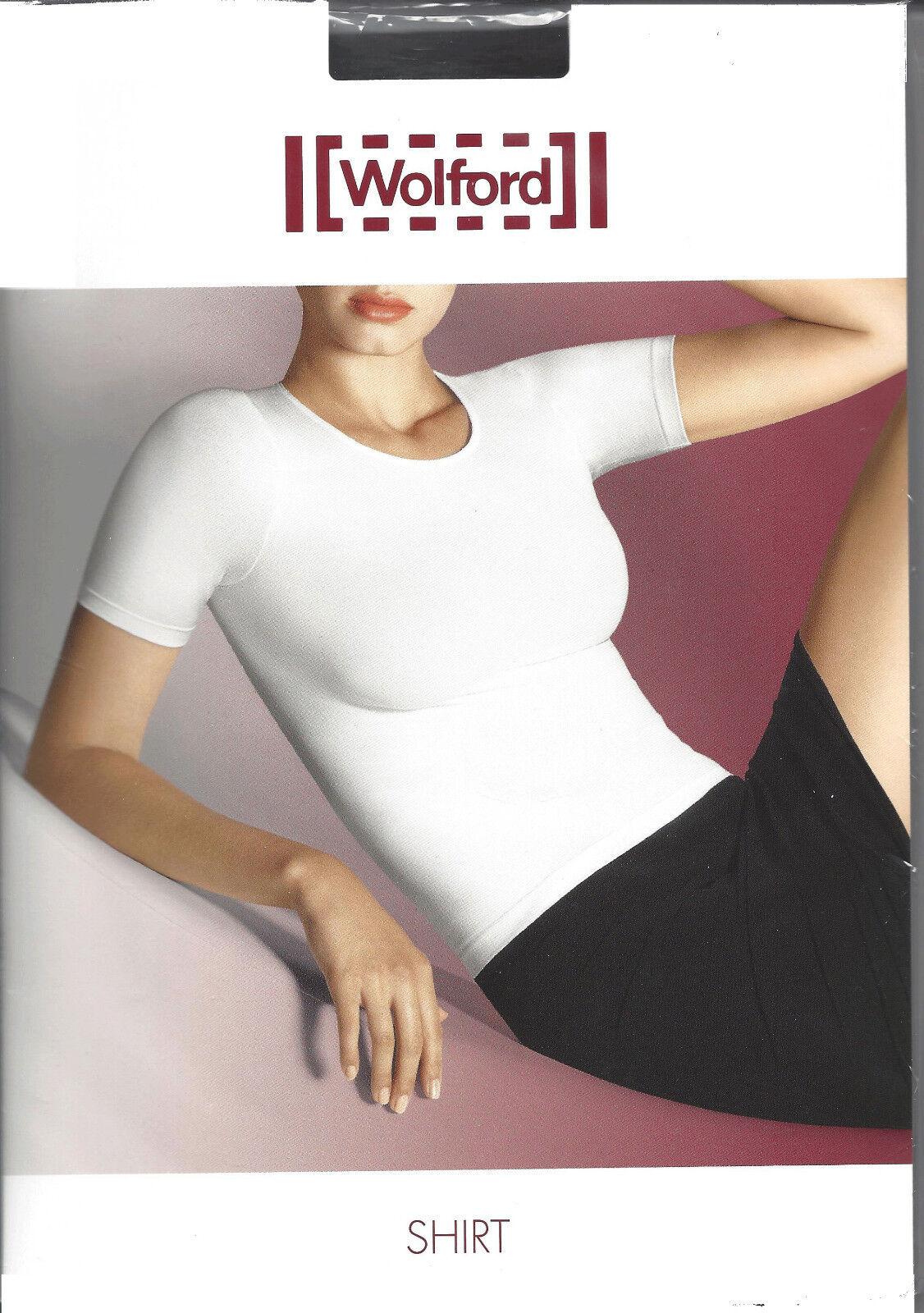 SALE • WOLFORD Kurzarm Shirt • white • ohne Box   ... mit Rundhals Dekollete
