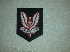 SPECIAL AIR SERVICE SPECIAL FORCES SAS OFFICERS WIRE EMBROIDERED BADGE