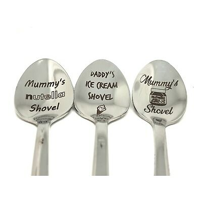 Personalised mother's day birthday gift novelty engraved spoon ice cream dad mum