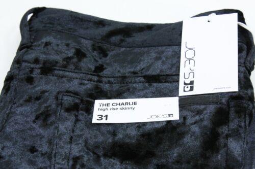 Joe/'s Jeans The Charlie High Rise Skinny Velvet Jeans BLACK Size 29 New w Tags