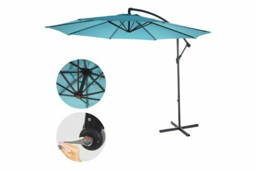 Sonnenschirm türkis blau 3m neigbar ohne Ständer günstig Ampelschrim Marktschirm