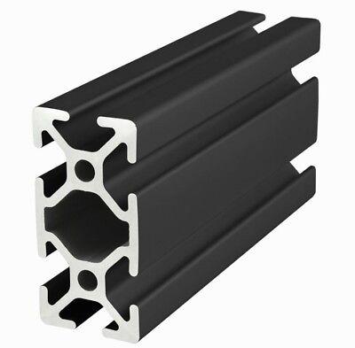 80//20 Inc 25mm x 50mm T-Slot Aluminum 25 Series 25-2550-Black x 1525mm Long N