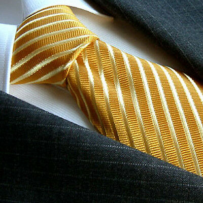 84025 LORENZO CANA - Business Marken Krawatte 100% Seide Gold -  Silk Neck Tie