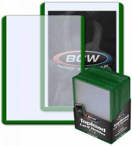 BCW-Standard-Trading-Card-Toploader-w-Green-Border-3-034-x-4-034-Qty-25