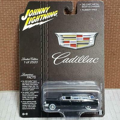 JOHNNY LIGHTNING 1:64 1959 CADILLAC HEARSE DIE-CAST SILVER WITH BLACK JLSP091*