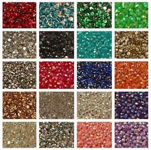 1000-Rhinestones-Crystal-Colours-Flat-Back-Resin-Diamante-Gems-Crafts-Nail
