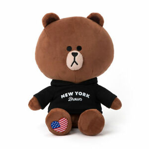 NEW YORK Edition Hoodie CONY Cuddle Plush Doll 40cm LINE FRIENDS