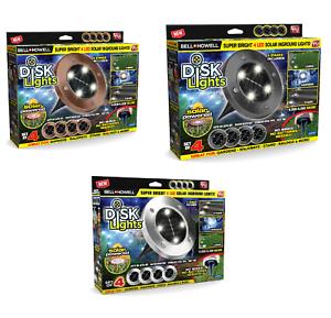 Bell-Howell-Disk-Lights-Outdoor-Solar-Garden-Lights-As-Seen-on-TV-BRAND-NEW