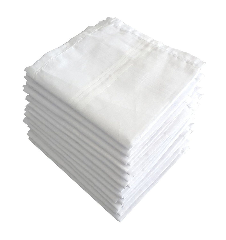 100% Cotton Premium Collection Handkerchiefs White Choose Pack