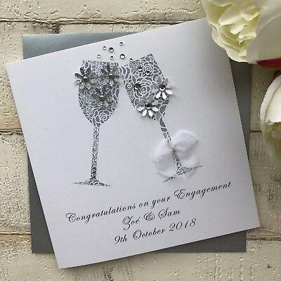 Handmade Personalised Congratulations Engagement Card