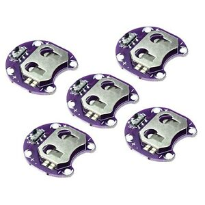 5x-Lilypad-sewable-Coin-Cell-Battery-Holder-CR2032-2032-Module-for-Arduino