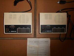 Lot de 2 interphones anciens MODIVOX avec notice
