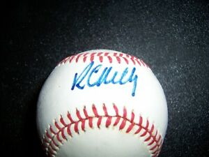 Roberto Kelly Autographed OAL Baseball Signed in Person Guaranteed 2 Pass