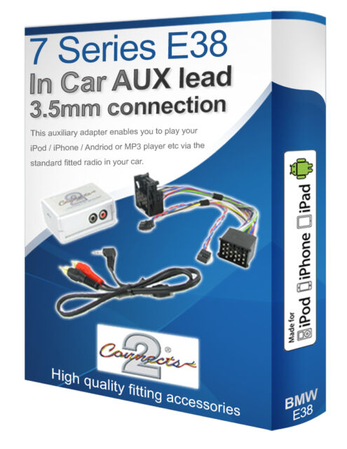 BMW 7 Series AUX lead, iPod iPhone MP3 player, BMW Auxiliary adaptor kit