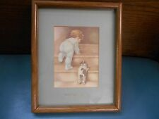 "ANTIQUE Vintage BESSIE PEASE GUTMANN 'GOOD NIGHT Lord'  LITHO PRINT 9"" x 10 1/2"""