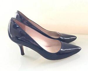 18b87c051cd Boden Ladies Shoes 5 38 Blue Patent Kitten Heel Smart Occasion Work ...