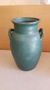 Nichols-Studio-Pottery-10-5-034-Crock-Signed-034-G-Nichols-034-Matte-Green-Glaze