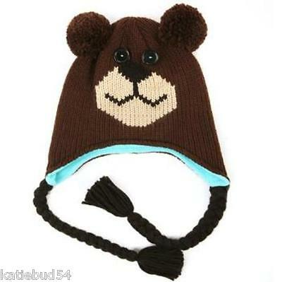 557f936ad Isotoner Flippets Knit Ear Flap Hat Teddy Bear Adult Sz With Tassels