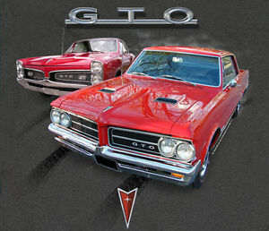 GM-Chevrolet-GTO-50th-Anniversary-Dual-Red-Cars-GRAY-Adult-T-shirt