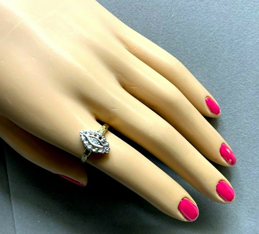 Antique Victorian 14k Yellow and White Gold Pierc… - image 2