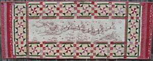 Christmas Runner Patterns.Details About Up Up Away Hand Embroidery Quilt Table Runner Pattern Christmas Santa Claus
