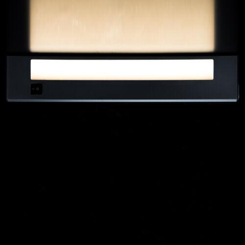 Unterbauleuchte LED Unterschrank Leuchte für Steckdose extra Flach 34cm silber