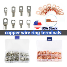 6065pcs Battery Bare Copper Ring Lug Terminals Connector Wire Gauge Sc6 25 Kit