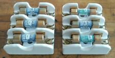 2 Vintage Knox White Porcelain Fuse Holders With Fuses 216530 250v 30a