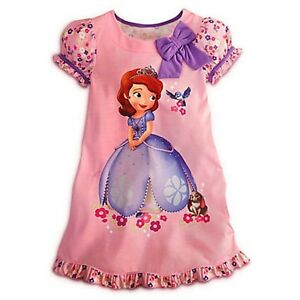 878c320fd5 Image is loading Disney-Store-Sofia-The-First-Nightshirt-Pink-Nightgown-