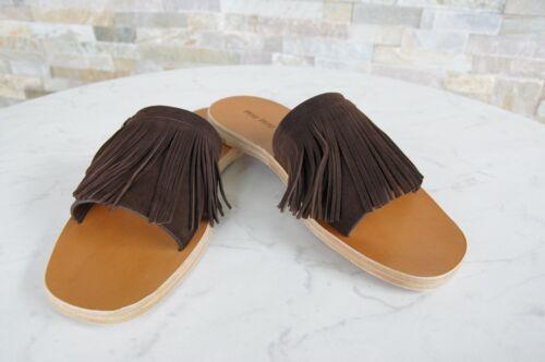 Form Pantofole teak con frange Miu Sandali Uvp375 39 Gr New in zeppa € con pxwyafPXq