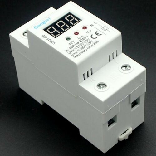 220V 40A 50Hz//60Hz Over and Under Voltage Protective Device voltage monitor