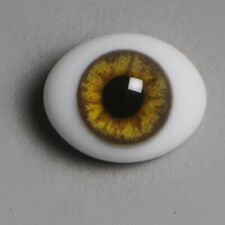 HM10 Dollmore Doll Eyes 14mm Classic Flat Back Oval Glass Eyes