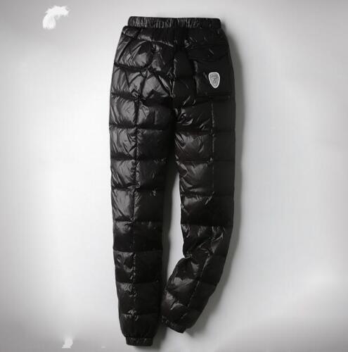 Men//Unisex Ultralight Down Adult Outdoor Winter Slim Fit Trousers Pants T7