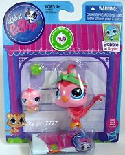 Littlest Pet Shop MOMMY & BABY Pink QUAIL Birds #3603 #3604 US SELLER  FREE SHIP