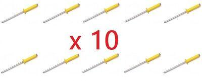 10 caches rivets couleur au choix blanc bleu jaune noir plaque immatriculation