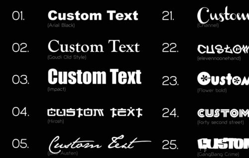 2X PERSONALISED VINYL DECAL for Guitar drums sax case CUSTOM COLOUR /& FONT