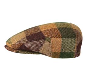 7e3ac4f3 Stetson 'Kent' 100% Lambswool Patchwork Flat Cap (6210305) Brown ...
