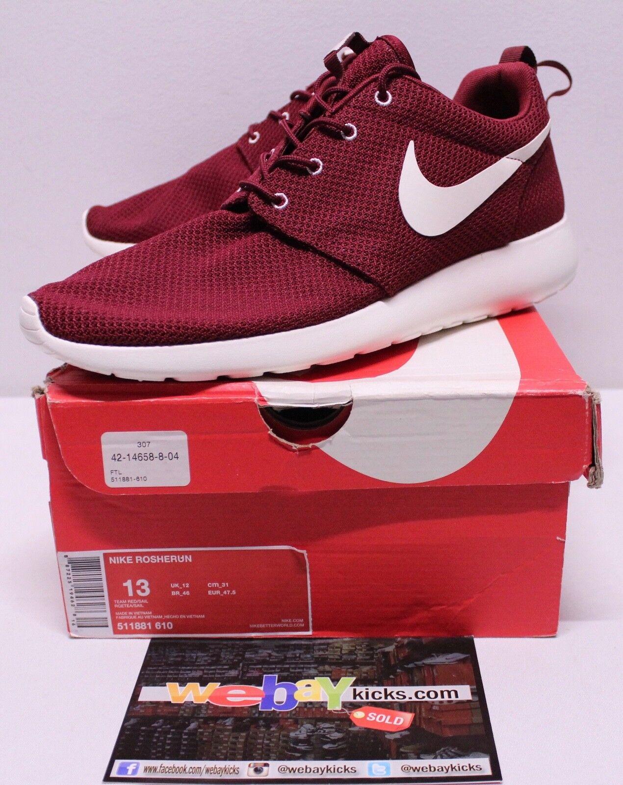 Nike Air Roshe Run one og equipo de vino rojo comodo blanco zapatillas hombres es comodo rojo precio de temporada corta, beneficios de descuentos 4e1d29