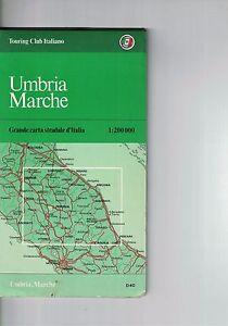 Cartina Stradale Umbria Marche.Umbria Marche Touring Club Italiano Carta Stradale 1 200000 Ebay