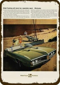 Vintage Look Reproduction Metal Sign 1968 Pontiac Firebird 400