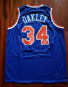 06dcbd405 Image is loading Charles-Oakley-Autographed-Signed-Jersey-New-York-Knicks-