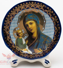 Porcelain gzhel decal plaque Icon Jerusalem Mother of God Иерусалимская Икона БМ